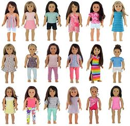 PZAS Toys 18 Outfit Set, Compatible with American Girl Doll