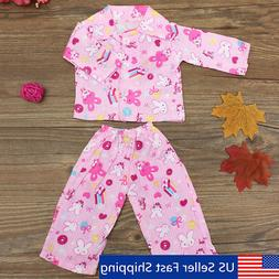 18 pink rabbit nightwear doll sleep clothes