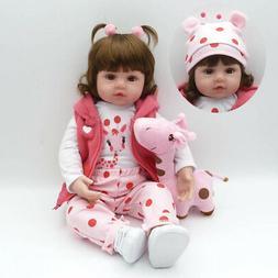 "19"" Reborn Baby Dolls Girl Toddler Toys Newborn Doll With Fu"