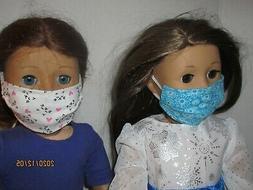 """2 Face Masks for 18"""" Doll Clothes American Girl Cat Faces &"""