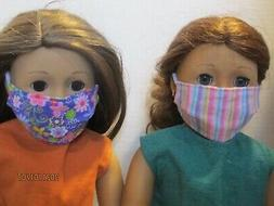 """2 Face Masks for 18"""" Doll Clothes American Girl Sparkly Stri"""
