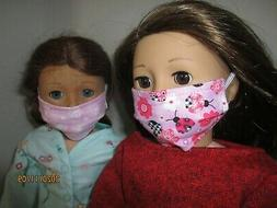 """2 Face Masks for 18"""" Doll Clothes American Girl Ladybugs & B"""