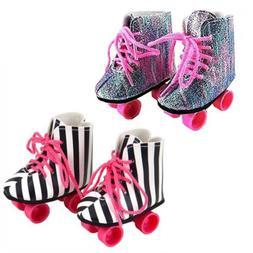 ebuddy 2 Pairs Rockin' Roller Skates for 18 inch Dolls Inclu