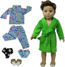 ZITA ELEMENT 2 Sets Pajamas Bathrobe with 2 Underpants and 1