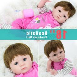 US Reborn Realistic Newborn Lifelike Baby Dolls Silicone Gir
