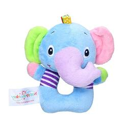Alimao 2019 new Infant Baby Soft Stuffed Hand Bells Animal H