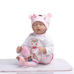 """22"""" Cute Simulation Baby Toy in Hippo Pattern Clothes Grown"""