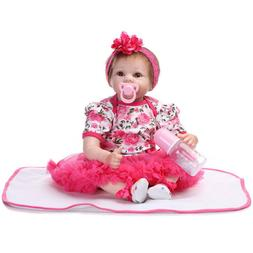 """22"""" Grown Up Rebron Doll Cute Simulation Baby Toy in Floral"""