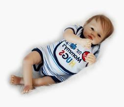 22'' Handmade Lifelike Baby Boy Doll Silicone Vinyl Reborn N