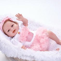22'' Handmade Lovely Baby Girl Doll Silicone Vinyl Reborn Ne