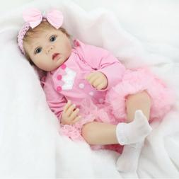 "22""Reborn Baby Doll Soft Vinyl Silicone Newborn Girl Realist"