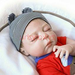 "22"" Reborn Baby Dolls Lifelike Supplies Dolls+Clothes Silico"