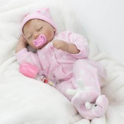 22'' Lifelike Reborn Baby Girl Doll Sleeping Newborn Dolls C