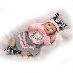 "22"" Lifelike Silicone Reborn Baby Doll Boy Girl Soft Body Ne"