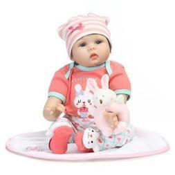 22''NPK Silicone Vinyl Reborn Doll Newborn Toddler Baby Blac
