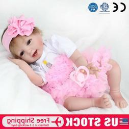 "22"" Realistic Lifelike Baby Girl Doll Silicone Vinyl Reborn"