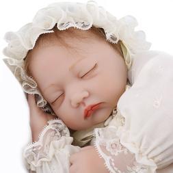 22'' Reborn Baby Doll Sleeping Realistic Silicone Vinyl Girl
