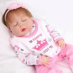 "22"" Reborn Baby Dolls Full Body Vinyl Silicone Newborn Babie"