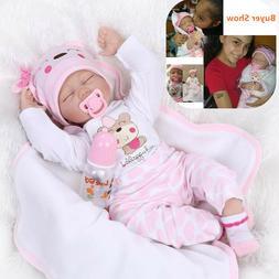 22''Reborn Baby Dolls Lifelike Newborn Handmade Silicone Vin