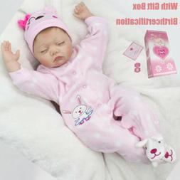 """22"""" Reborn baby Silicone Doll+Clothes Lifelike Preemie Toddl"""