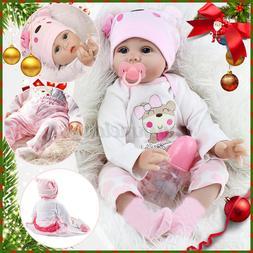 22''Reborn Dolls Baby Lifelike Newborn Handmade Silicone Vin