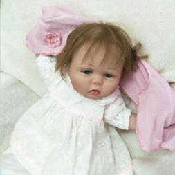 22'' Reborn Dolls Toddler Vinyl Silicone Lifelike Newborn Ba