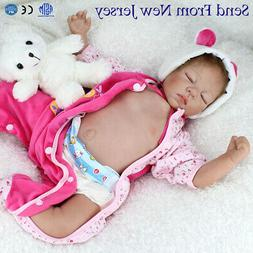 "22"" Reborn Dolls Vinyl Silicone Belly Baby Doll Lifelike Sle"