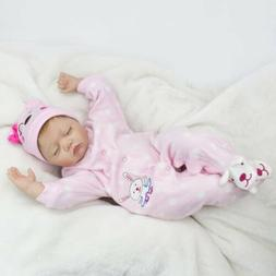 "22"" Reborn Newborn Babies Dolls Vinyl Silicone Baby Girl Dol"