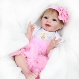 22'' Soft Vinyl Silicone Reborn Dolls Newborn Baby Toddler G