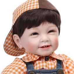 22'' Toddler Reborn Baby Boy Doll Soft Silicone Vinyl Newbor