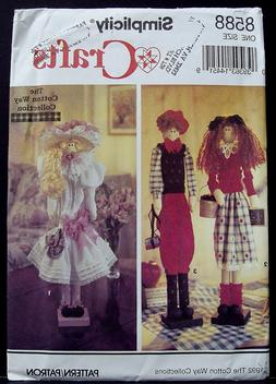 """Simplicity 22"""" Wooden Dowel Dolls Clothes Craft Sewing Patte"""