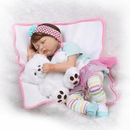 22inch Reborn Baby Dolls Realistic Cute Lifelike Rainbow Clo