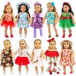 Zita Element 23 Pcs Girl Doll Clothes Dress For American 18