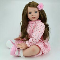 24 inch Toddler Reborn Baby Dolls Handmade Vinyl Silicone Ne