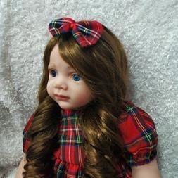 24inch toddler Baby dolls Birthday Vinyl 100% Silicone Reali