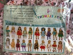 ZITA ELEMENT 24 PC GIRL DOLL CLOTHES & HAIR ACCESSORIES FOR