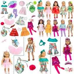 ZITA ELEMENT 24 Pcs Girl Doll Clothes & Accessories For Amer