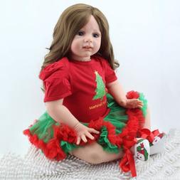 "24"" Reborn Baby Dolls Lifelike Toddler Vinyl Silicone Newbor"