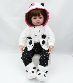 "24"" Reborn Doll Real Lifelike Silicone Newborn Baby Toddler"