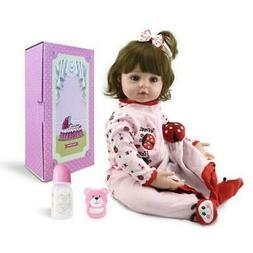 "24"" Silicone Vinyl Reborn Toddler Doll Lifelike Handmade New"
