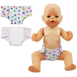 2pcs/set Doll Diaper Baby Underpants Clothes Doll Accessory