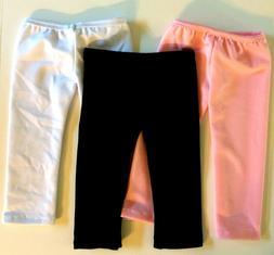 "3 Pairs Leggings Pants Pink Black White Fits 18"" Inch Americ"