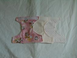 3 pc Homemade Baby Doll Cloth Diaper Bell Design Waist Adjus