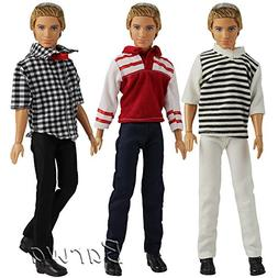 Barwa 3 Sets Doll Clothing Suit Fashion Casual Wear Clothes/
