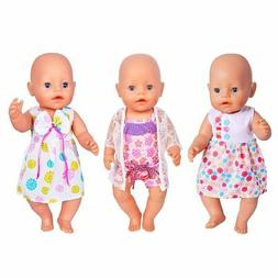 ebuddy 3 Sets Doll Clothes Sets for 14 to 16 Inch Alive Baby
