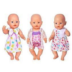 ebuddy 3 Sets Doll Clothes Sets for 14 to
