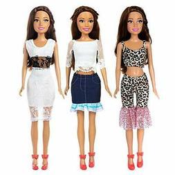 ZITA ELEMENT 3 Sets Fashion 28 Inch Girl Doll Clothes Dress