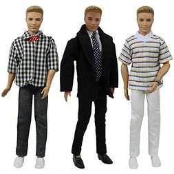 ZITA ELEMENT 3 Sets 11.5 inch Doll Boyfriend Clothes with Fo