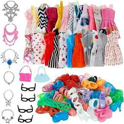 32 Item Set of Barbie/Blythe/BJD Doll Clothes, Shoes and Acc