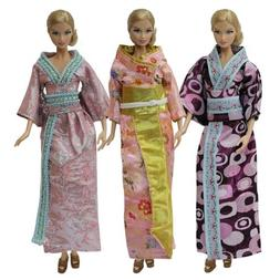 ZITA ELEMENT 3X Pack Japan Style Gown Dress kimono for 11.5""